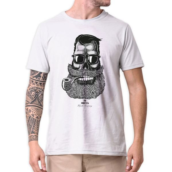 31211 camiseta eco tshirt estampada cara barbudo hipster b