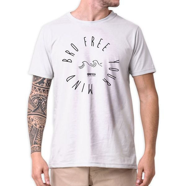 31236 camiseta eco tshirt estampada bro free your mind b