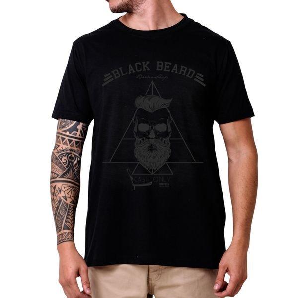 31246 camiseta eco tshirt estampada caveira barba p