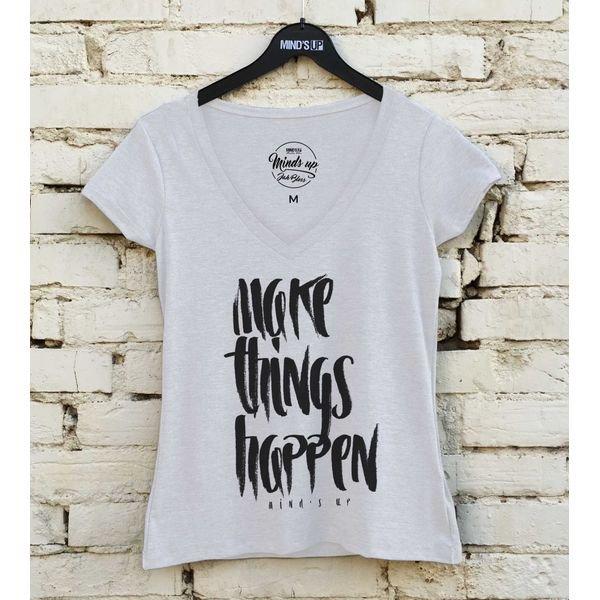 19599 camiseta tshirt gola v make things happen b