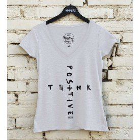 19608 camiseta tshirt gola v think positive b