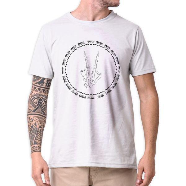 31322 camiseta eco tshirt estampada paz e amor esqueleto b