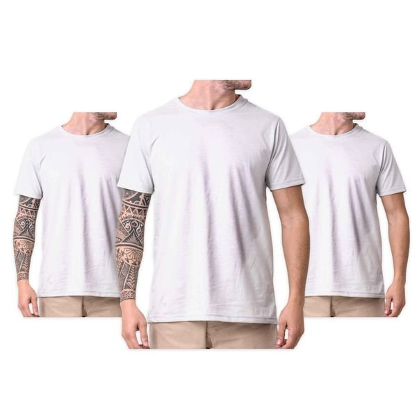196ccc1e4afca Kit Camiseta Branca