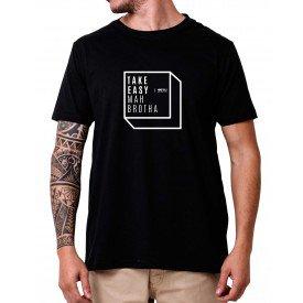 31147 tshirt take easy mah brotha preto