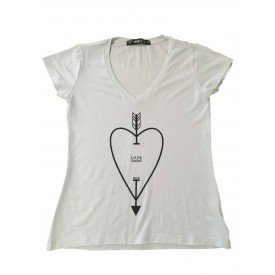 camiseta feminina love branca 1