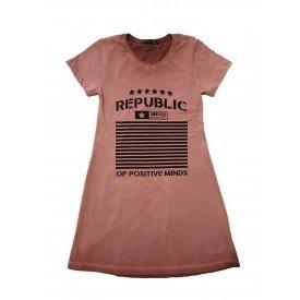 Vestido Estonado Republic Rosa 1