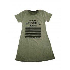 Vestido Estonado Republic Verde 1