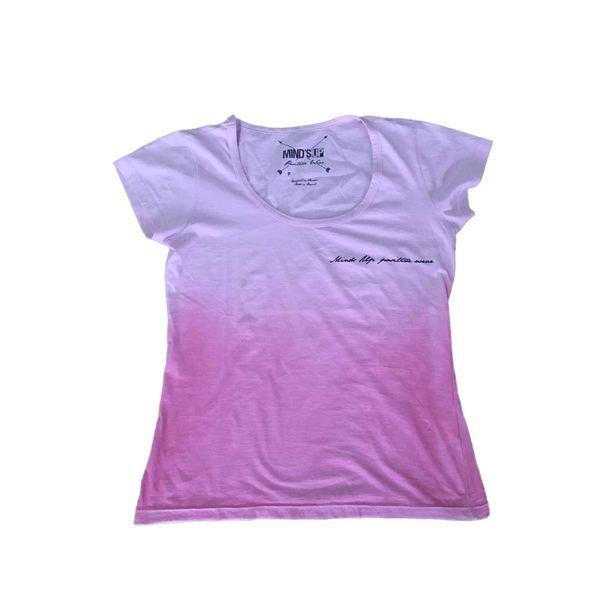 Camiseta Feminina Line Rosa Claro