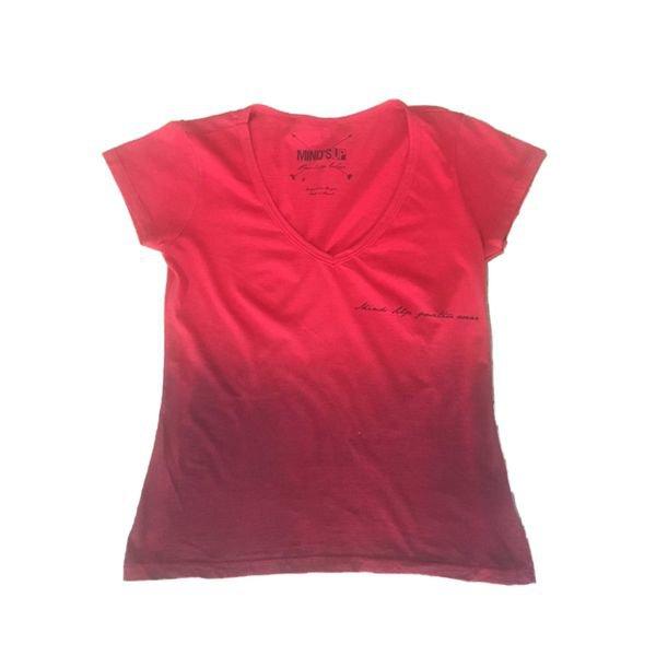 Camiseta Feminina Line Rosa