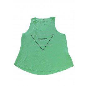 Regata Feminina Positividade Triangulo Verde 1