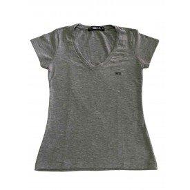 camiseta feminina gola v mindsupretangulo mescla 1