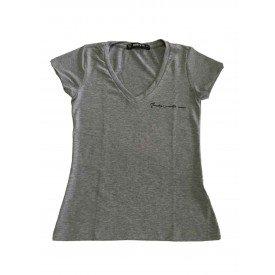 camiseta feminina gola v line mescla 1