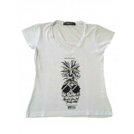camiseta feminina abacaxi branca 1
