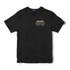 239 oculos preto estampa branca