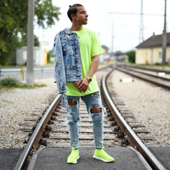 camiseta masculina 2019 neon 1